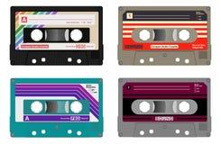 Kompakt ljudkassett stock illustrationer