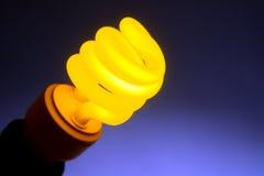 kompakt lysrör för kula - yellow Royaltyfria Foton
