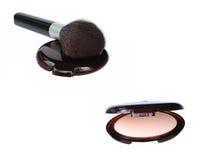 kompakt makeup Royaltyfria Foton