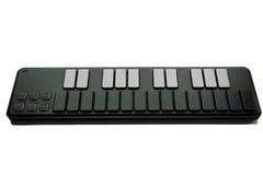 Kompakt MIDI tangentbord Arkivbild