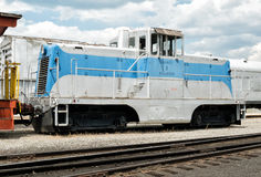 Kompakt motor, Portola järnvägmuseum royaltyfri foto