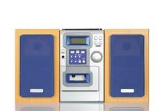 kompakt sound stereo- system Royaltyfria Bilder
