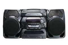 kompakt stereo- system Arkivfoto
