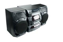kompakt stereo- system arkivbild