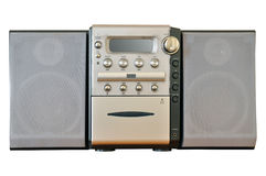 kompakt stereo- system arkivfoton