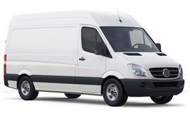 Kompakt vit lastskåpbil Royaltyfri Fotografi