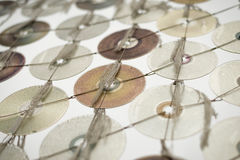 Kompakta CD drev på ljus bakgrund royaltyfria foton
