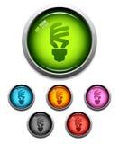 Kompakte Leuchtstoffglühlampeikone stock abbildung