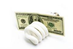 Kompakte Leuchtstoffleuchte Lizenzfreies Stockbild