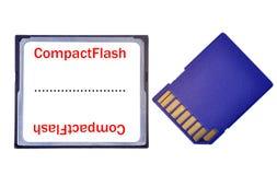 Kompaktes Blinken gegen Sd-Karte Stockfotografie
