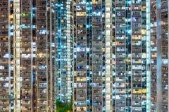 Kompaktes Gebäude in Hong Kong Stockfotos