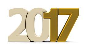 kompaktes Gold 2017 der Ikone lizenzfreie abbildung