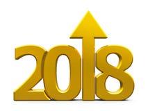 kompaktes Gold 2018 der Ikone mit Pfeil Stockbild