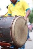 Kompang,传统马来的乐器。 库存照片