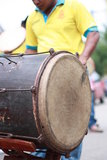 Kompang, traditional Malay music instrument. Kompang is a traditional musical instrument of the most popular for the Malay community. It belongs to a group of Stock Photo