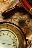 kompas żeglarskie koła Obraz Stock