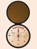 Kompas aan succes stock illustratie