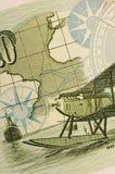 Kompas & kaart royalty-vrije stock foto's