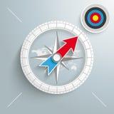 Kompas Barwiący cel ilustracja wektor