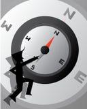 Kompas Bedrijfsbehang Royalty-vrije Stock Foto's