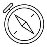 Kompas cienka kreskowa ikona Nawigaci wektorowa ilustracja odizolowywająca na bielu Kartografia konturu stylu projekt, projektują ilustracji