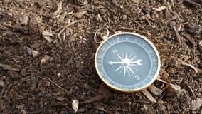 Kompas, die de Manier vinden stock foto's
