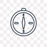 Kompas die Noordoostelijk vectordiepictogram richten op transparant wordt geïsoleerd royalty-vrije illustratie