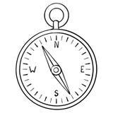 Kompas doodle stock illustratie