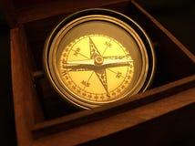 Kompas in Doos Royalty-vrije Stock Fotografie