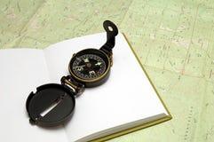 kompas dziennik. Obraz Stock