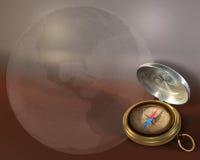 Kompas en Bol Stock Afbeeldingen