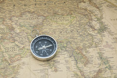 Kompas en Kaart Royalty-vrije Stock Afbeelding