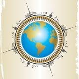 Kompas en kaart design01 Stock Foto's