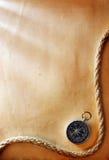 Kompas en kabel Royalty-vrije Stock Afbeeldingen