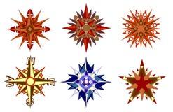 Kompas en sterren Stock Afbeeldingen