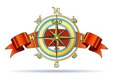Kompas i faborek Obraz Stock