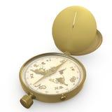 Kompas i mapa Zdjęcie Stock