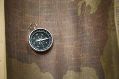 Kompas i Mapa Obraz Stock