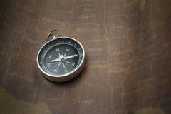 Kompas i Mapa Fotografia Royalty Free