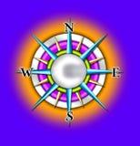kompas ilustracyjny słońce Obraz Royalty Free
