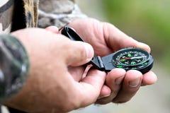 kompas magnetyczny fotografia stock