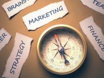 Kompas Marketing Royalty-vrije Stock Afbeeldingen