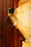 Kompas met het overdrijven Stock Fotografie