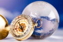 Kompas, modern thema van reis Royalty-vrije Stock Fotografie