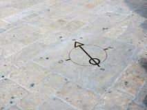 Kompas na kamieniach swoboda kwadrat obrazy stock