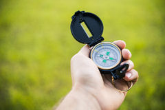 Kompas na tle Obraz Stock
