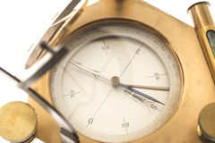 Kompas odizolowywający na bielu Zdjęcia Royalty Free