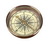 Kompas op de witte achtergrond Stock Foto