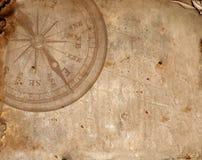 Kompas op het oude document Royalty-vrije Stock Afbeelding