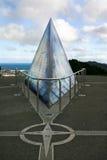 Kompas op het vooruitzicht van Onderstelvictoria, Wellington stock fotografie
